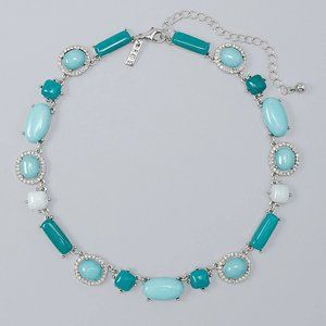 WHBM STATION NECKLACE MALAY JADE turquoise color